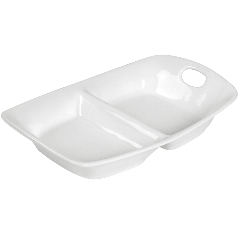 Blanc De Blanc 2 Section Serve Bowl