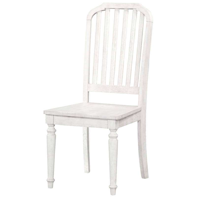Austin 2pk White Wood Dining Chair