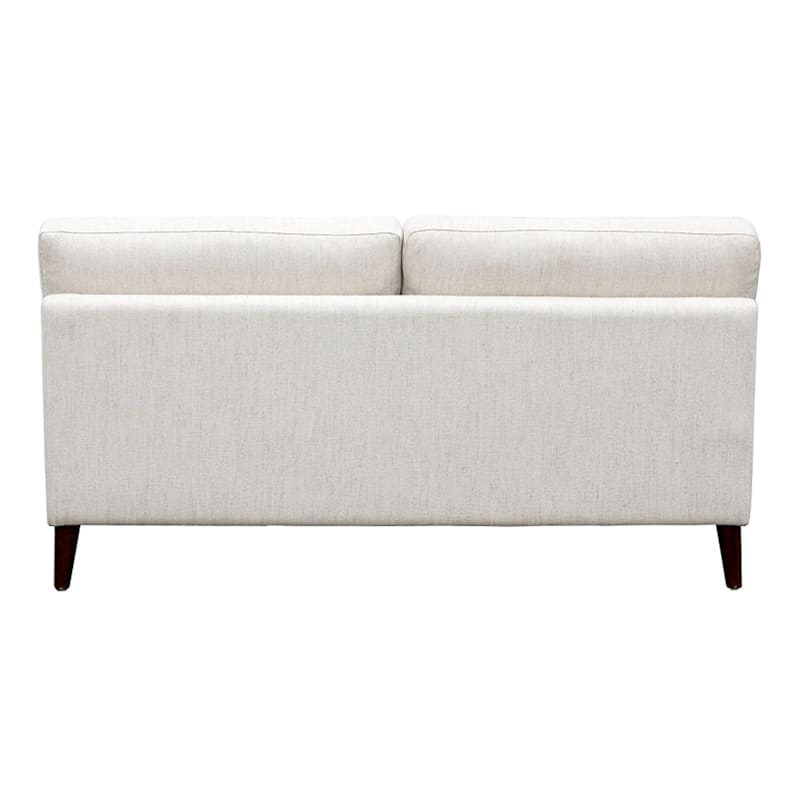 "Barton Ivory Modern Armless Sofa, 61"""