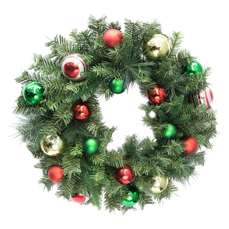 "Ornaments Wreath, 24"""