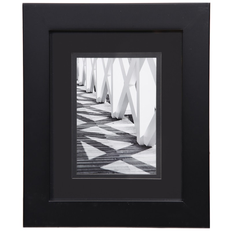 Pick And Mix 8X10 Matted To 5X7 Black Mat Linear Photo Frame