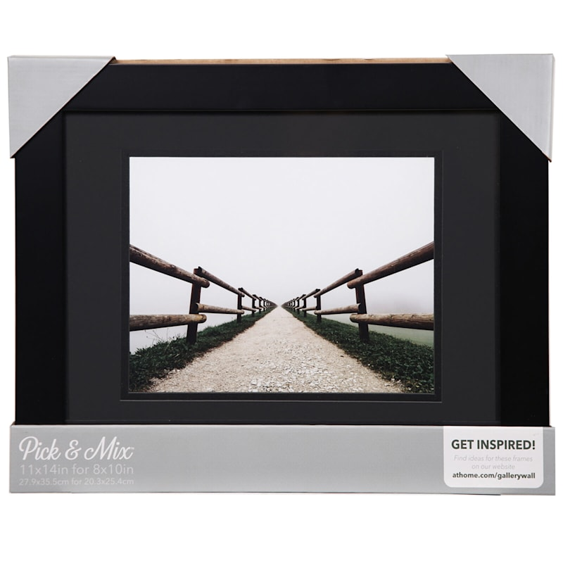 Pick And Mix 11X14 Matted To 8X10 Black Mat Linear Photo Frame