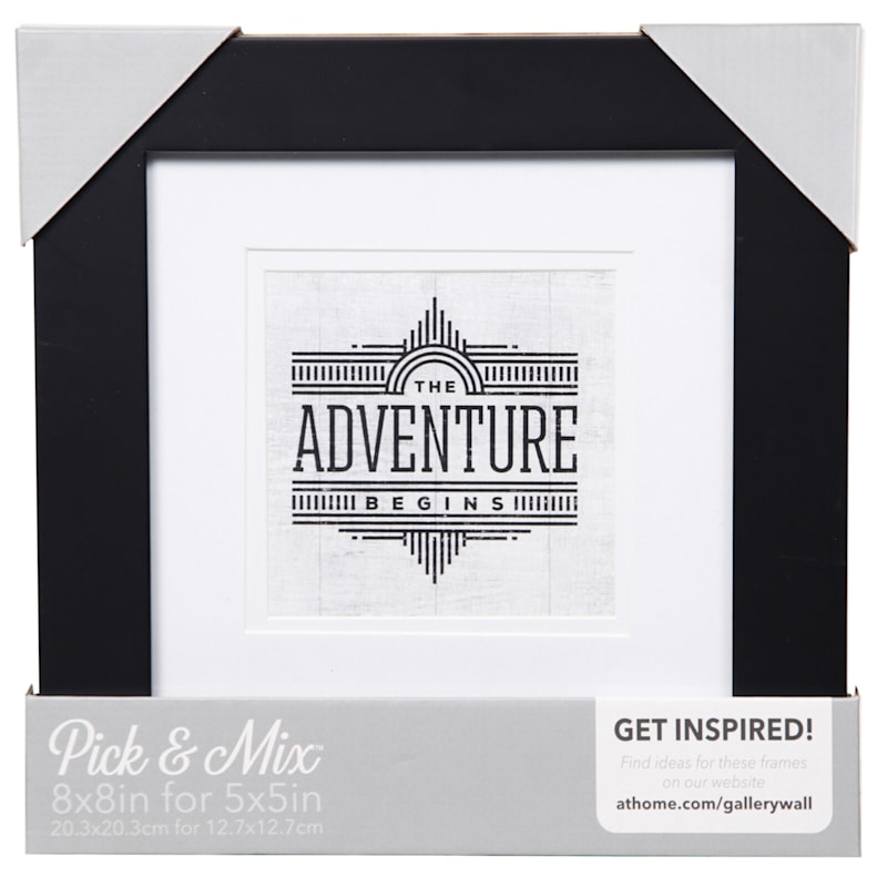 Pick And Mix 8X8 Matted To 5X5 White Mat Linear Photo Frame
