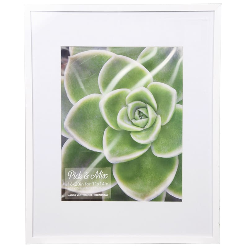 Pick And Mix 16X20 Matted To 11X14 White Mat Linear Photo Frame
