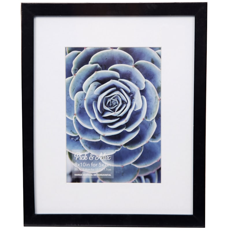 Pick And Mix 8X10 Matted To 5X7 Black White Mat Linear Photo Frame