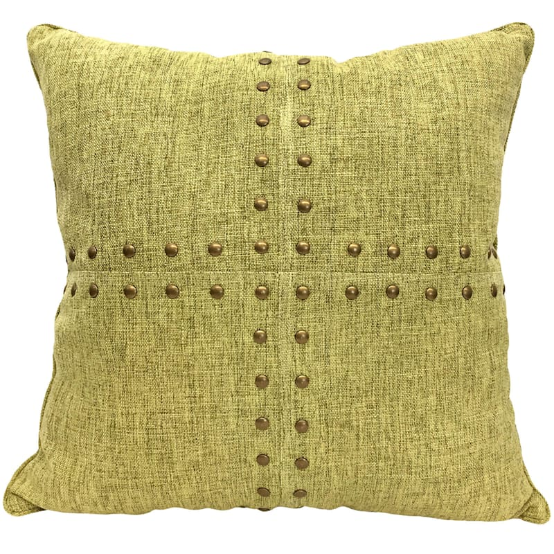 SQUARES NAILHEAD GREEN 18IN