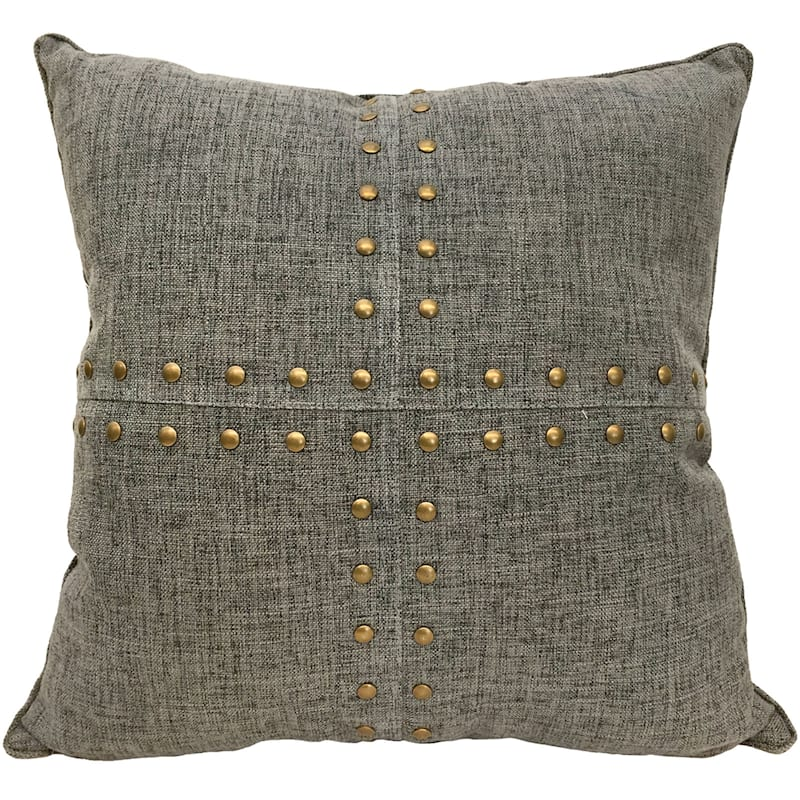 SQUARES NAILHEAD CHARC 18IN