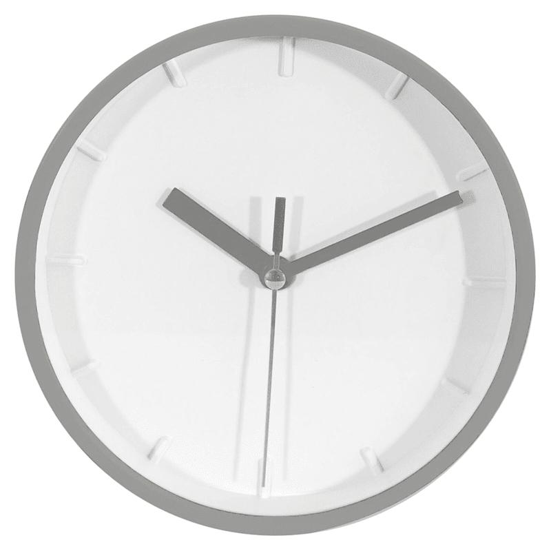 Silver Embossed Mini Clock