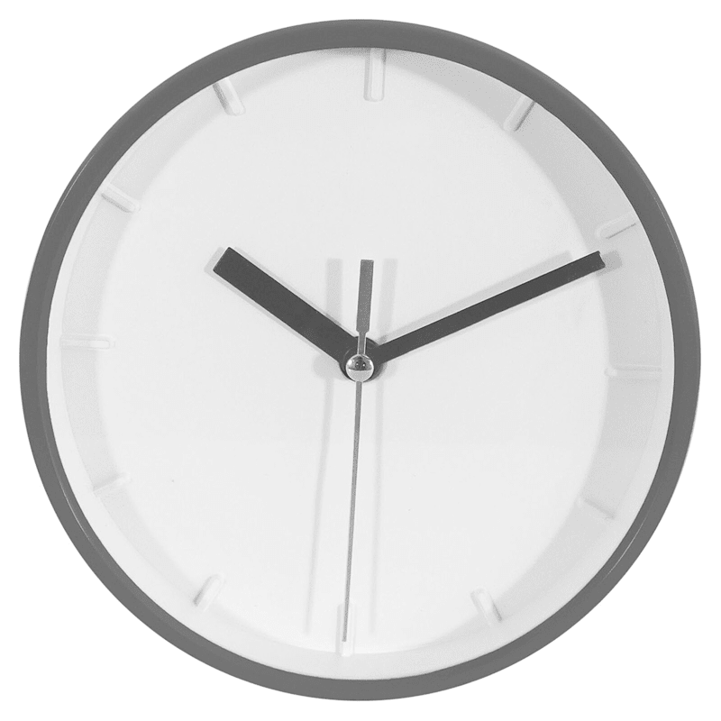 6X6 Charcoal Round Accent Wall Clock