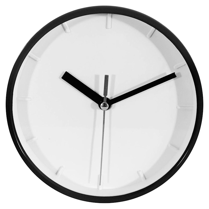 6X6 Black Round Accent Wall Clock