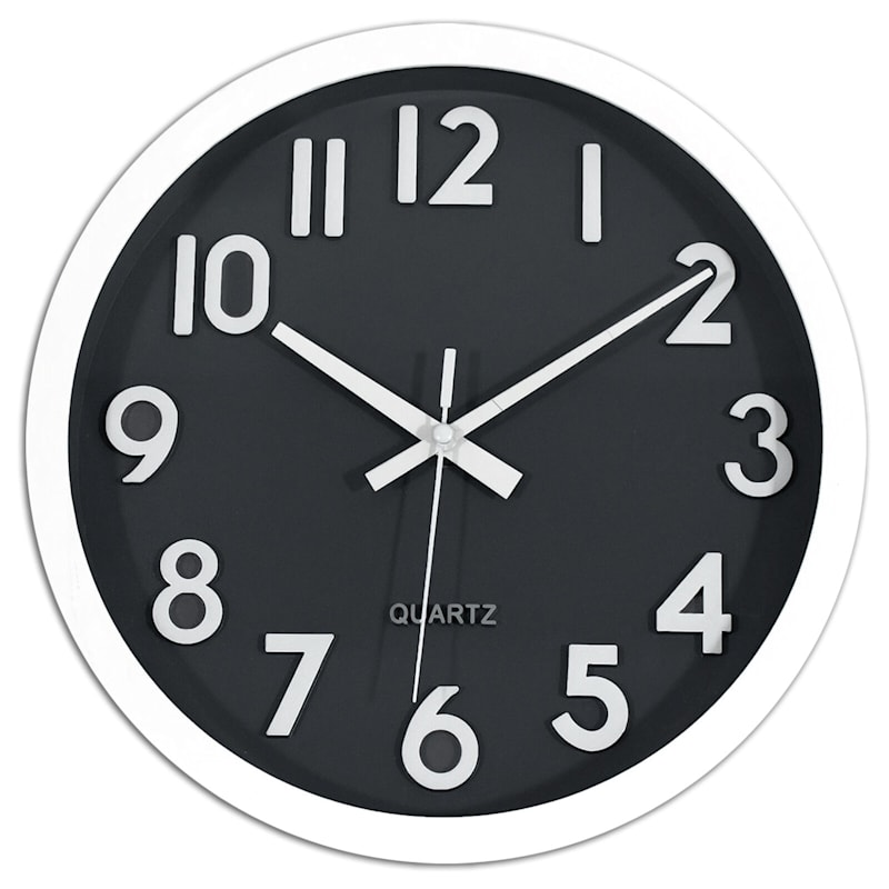 10X10 Blue Face Round Accent Wall Clock