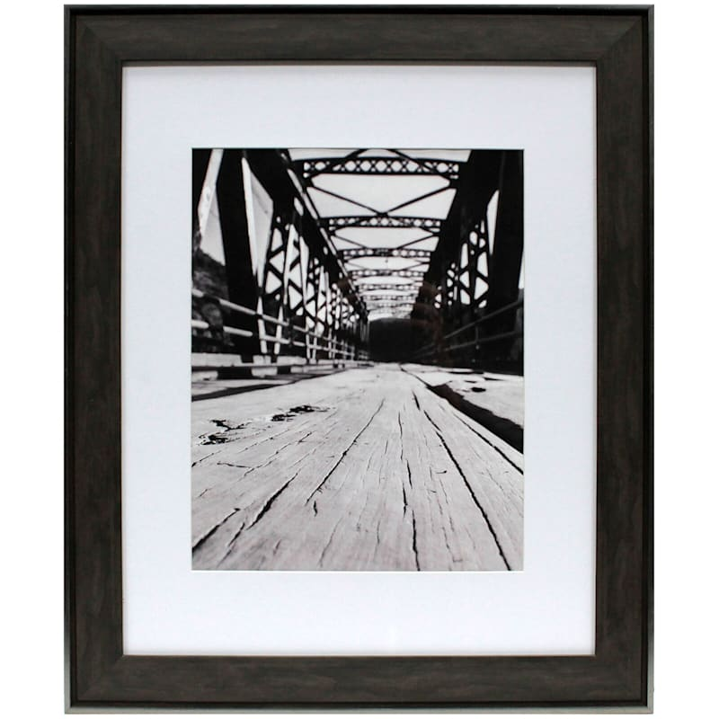16X20 Matted To 11X14 Black/Brown Poster Frame