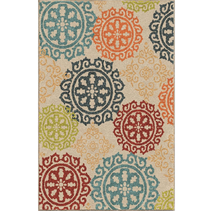 B475 Courtyard Medallion Rug - 5x7 ft.