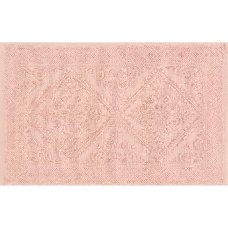 Belle Coral 100% Cotton Bath Rug 21X34