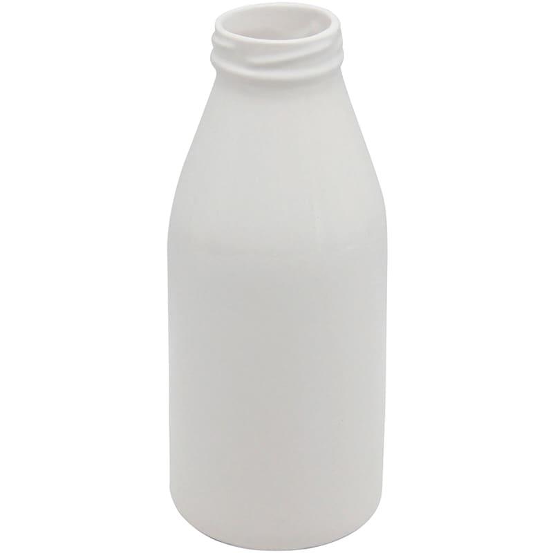 7.5in. White Milk Bottle Ceramic Vase