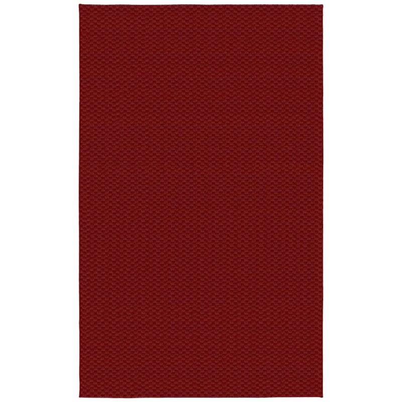 (D366) Medallion Area Rug Red, 5x7