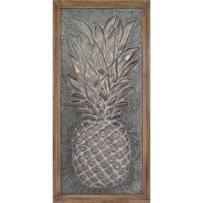20X42 Metal Pineapple Wall Art
