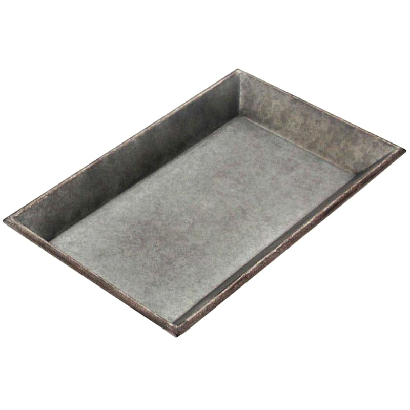 13X7 Metal Galvanized Tray