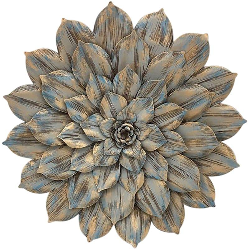 25in. Multi Layer Metal Flower Wall Decor