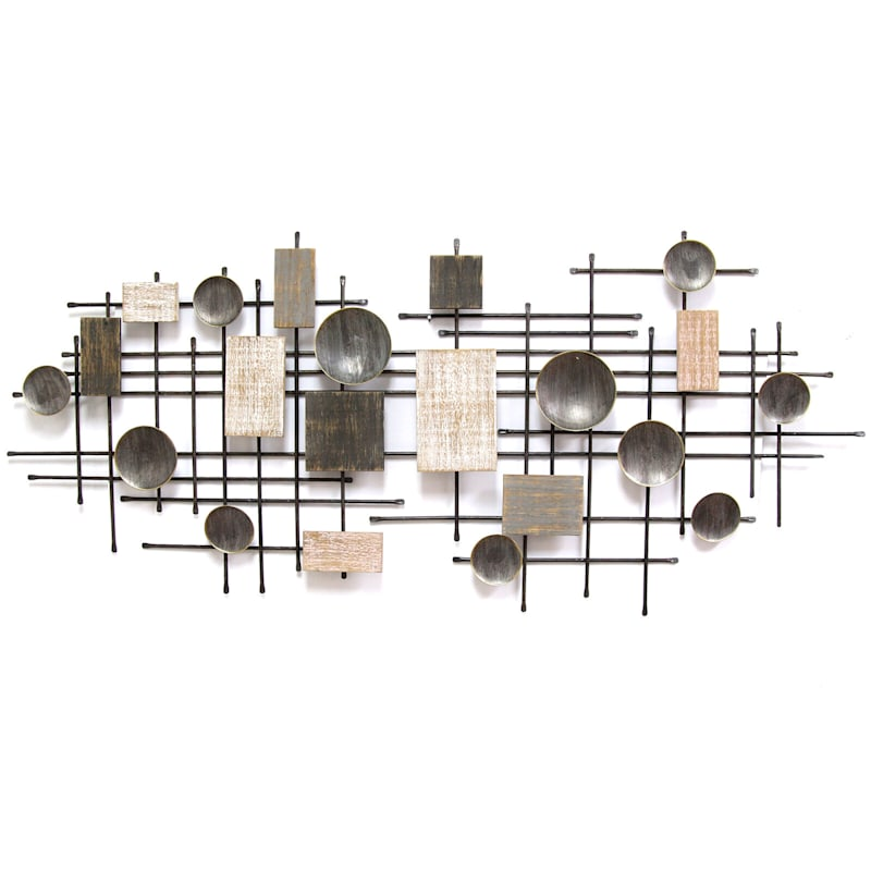 53X24 Mixed Material Wall Decor Centerpiece