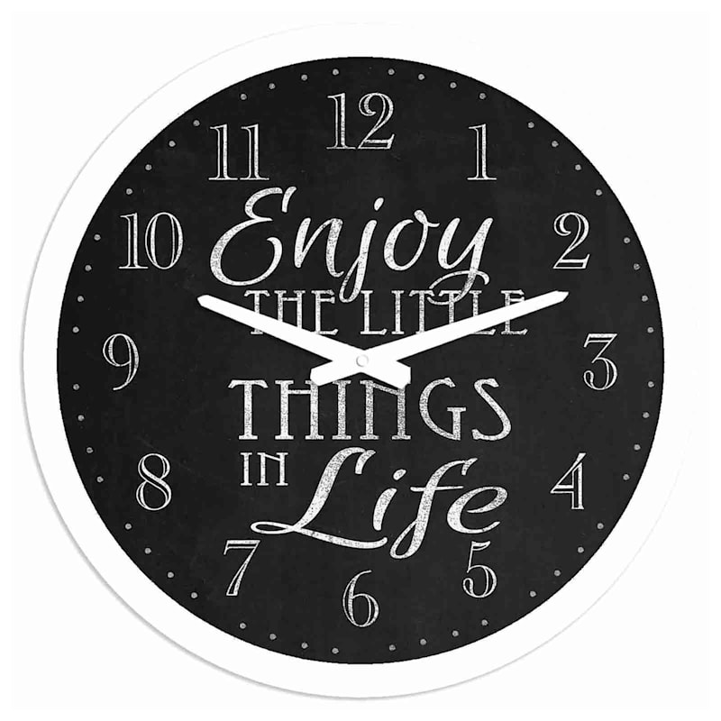 12X12 Enjoy The Little Things Wall Clock