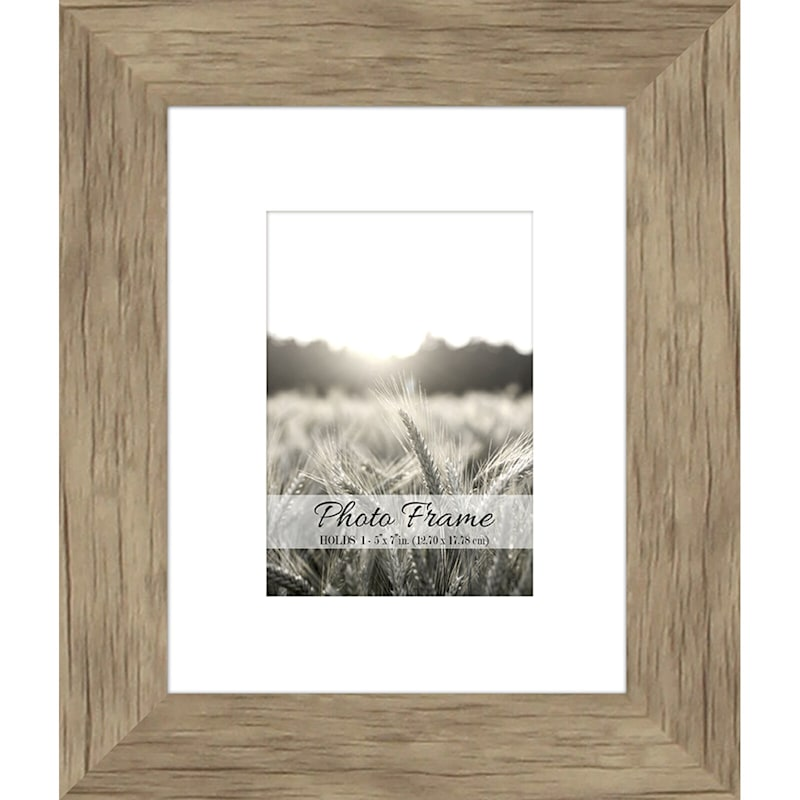 8X10 Driftwood Farmhouse Matted Frame Holds 5X7 Photo