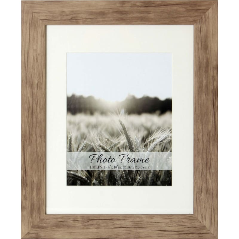 11X14 Driftwood Farmhouse Matted Frame Holds 8X10 Photo