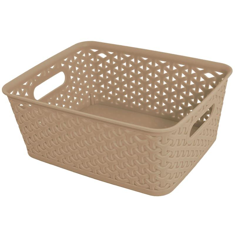 10X8 Taupe Basket