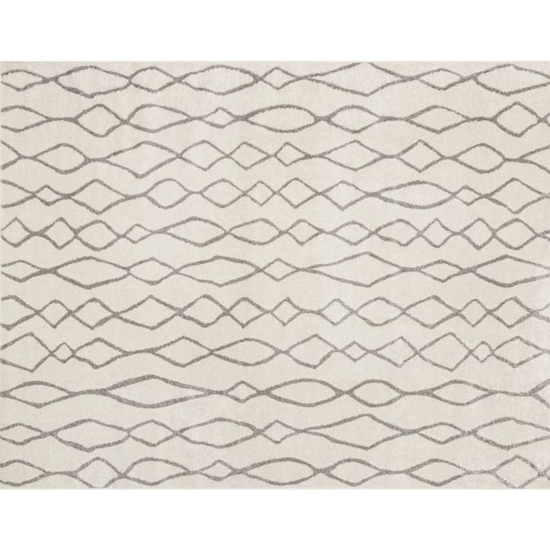 D376 Lucas Moroccan Ivory and Beige Rug - 5x7 ft.
