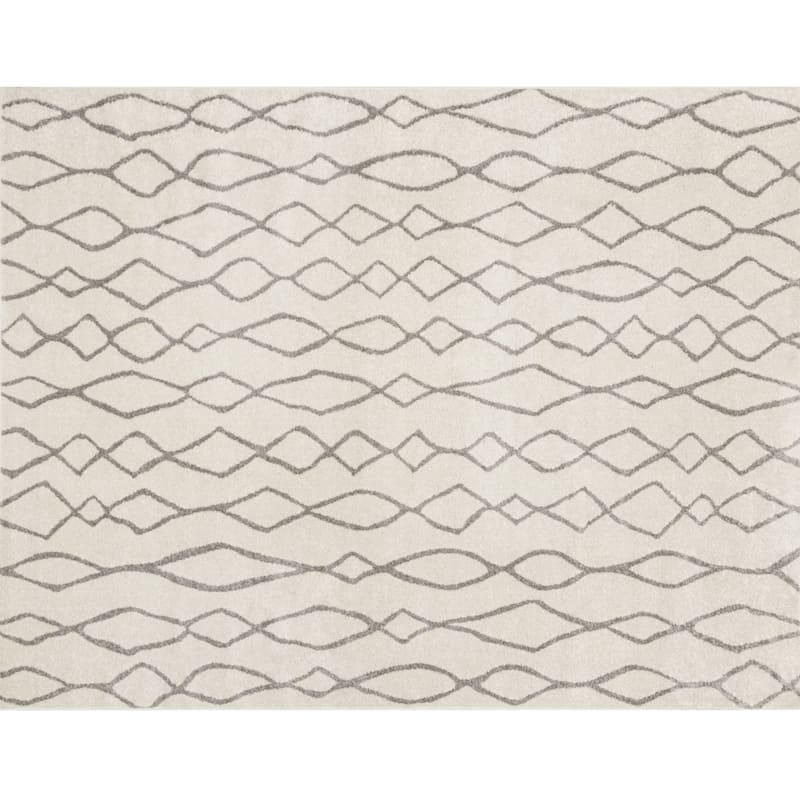 D376 Lucas Moroccan Ivory and Beige Rug - 8x10 ft.