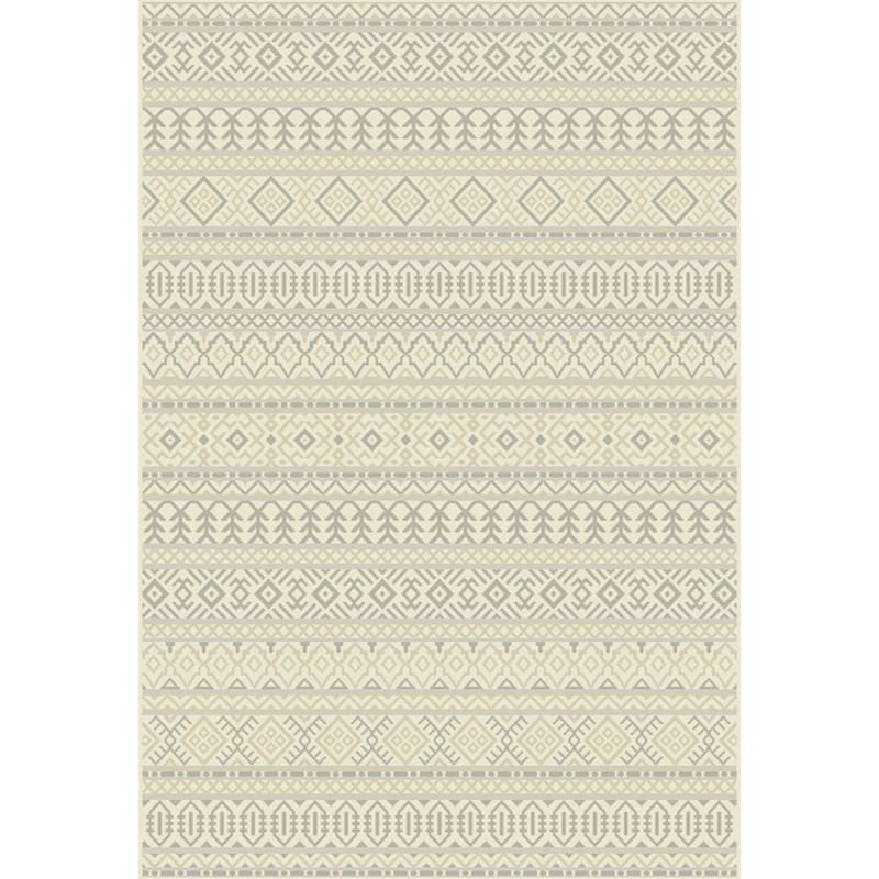 (B481) Tribal Grey Woven Area Rug, 5x7