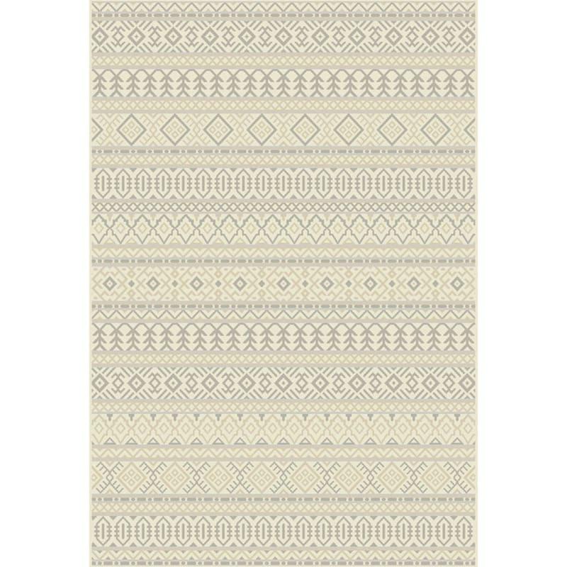 (B481) Tribal Grey Woven Area Rug, 7x10