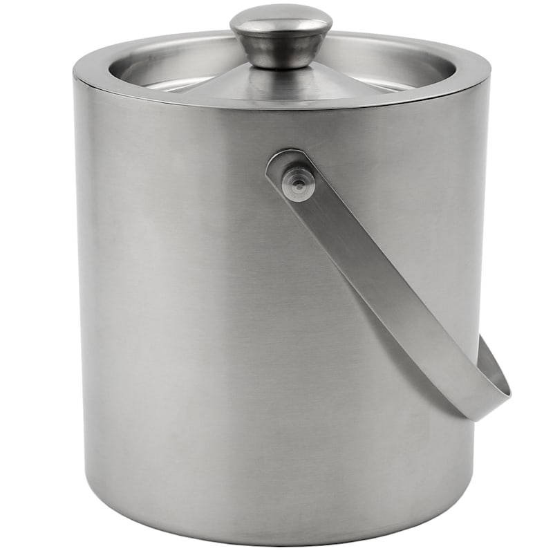 Brushed Stainless 2 Quart Double Wall Ice Bucket