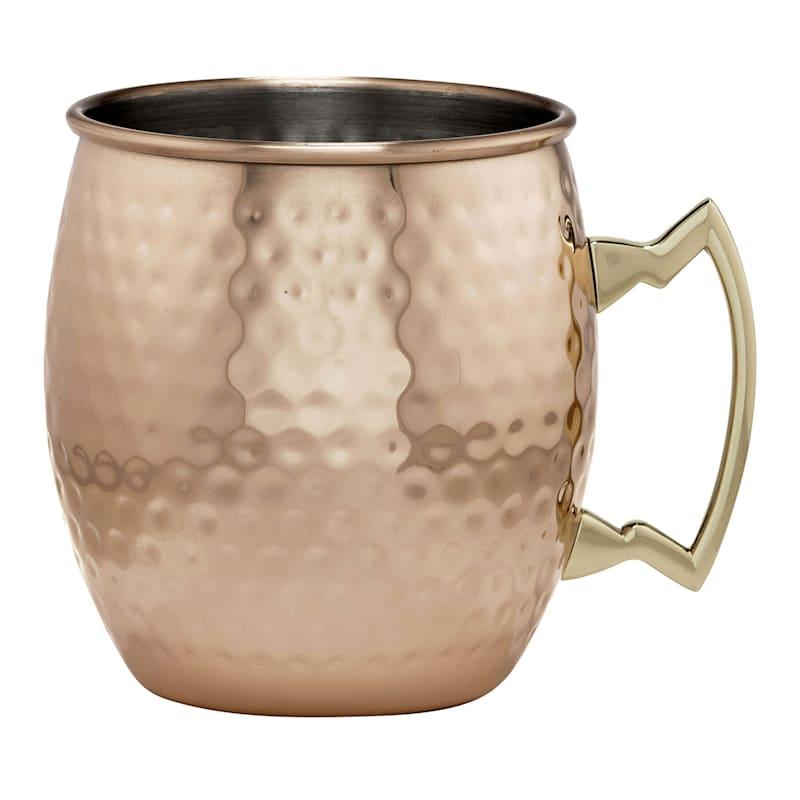 Rose Gold Hammered Mule Mug - 20 oz.