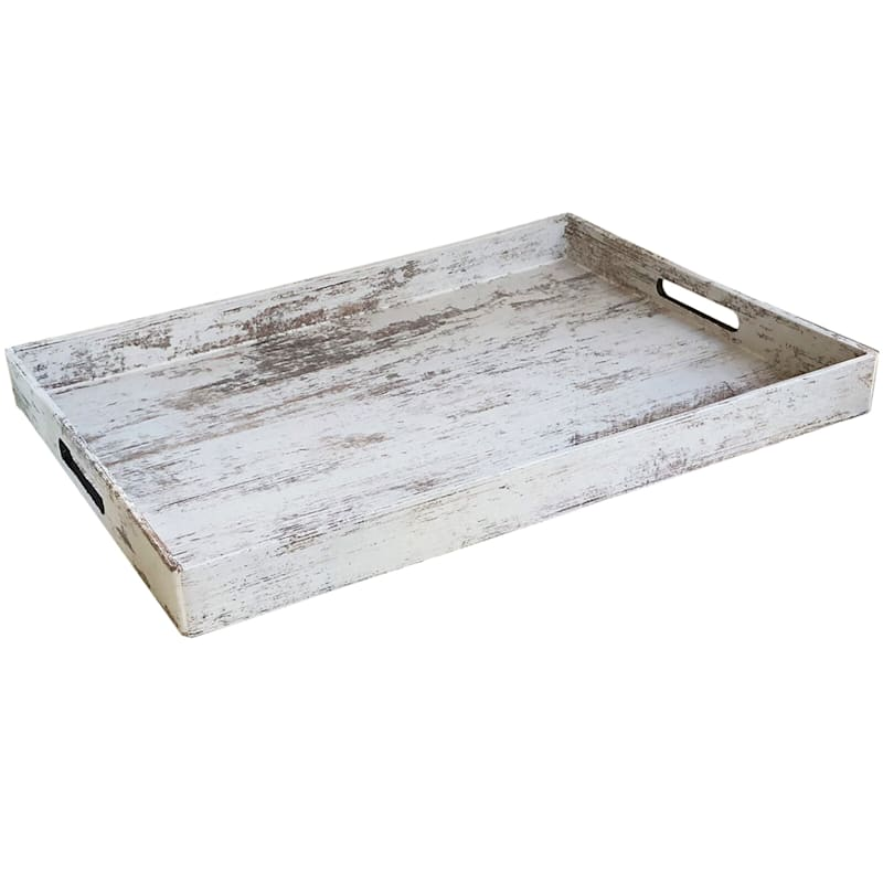 White Colored Tray 14X19