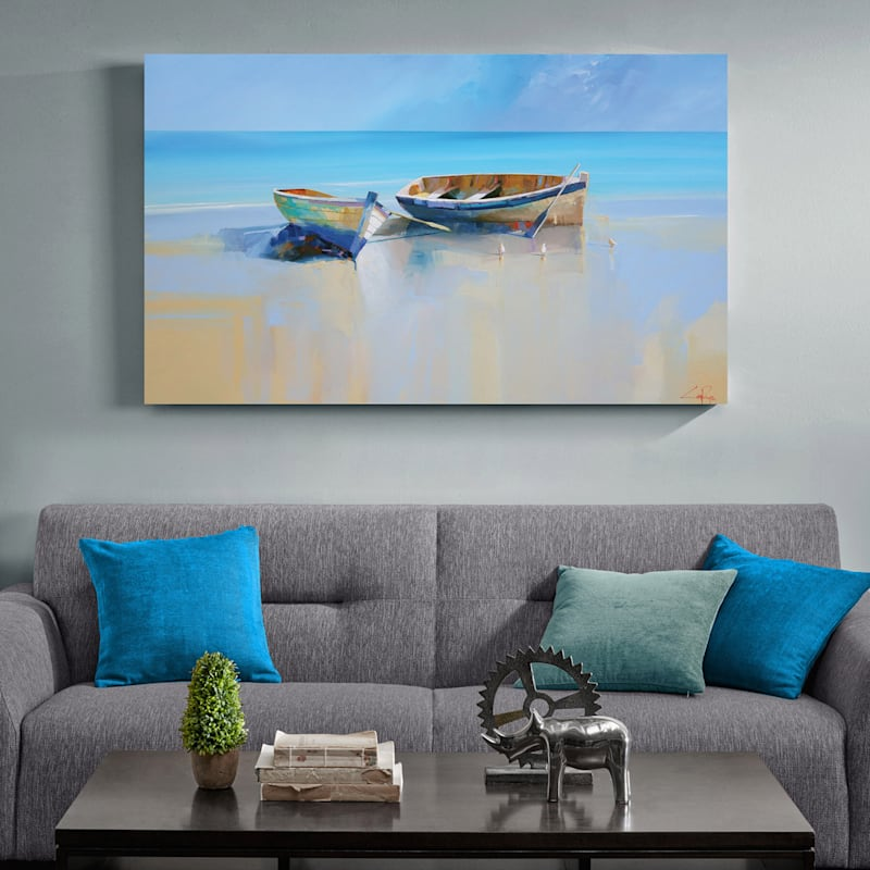 60X36 Afternoon Gulls Canvas Art