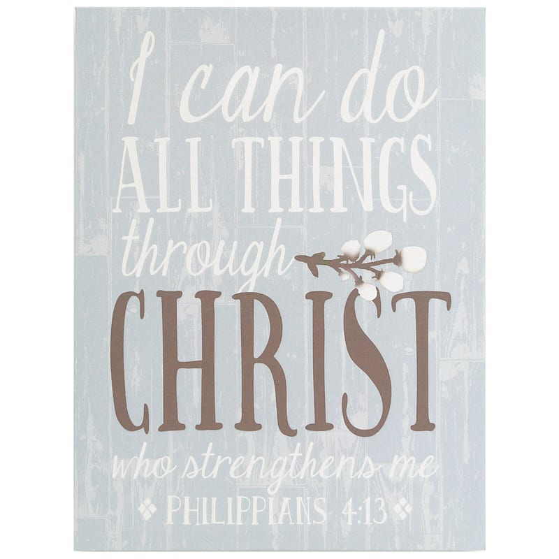12X16 Do All Things Through Christ Textured Canvas Art