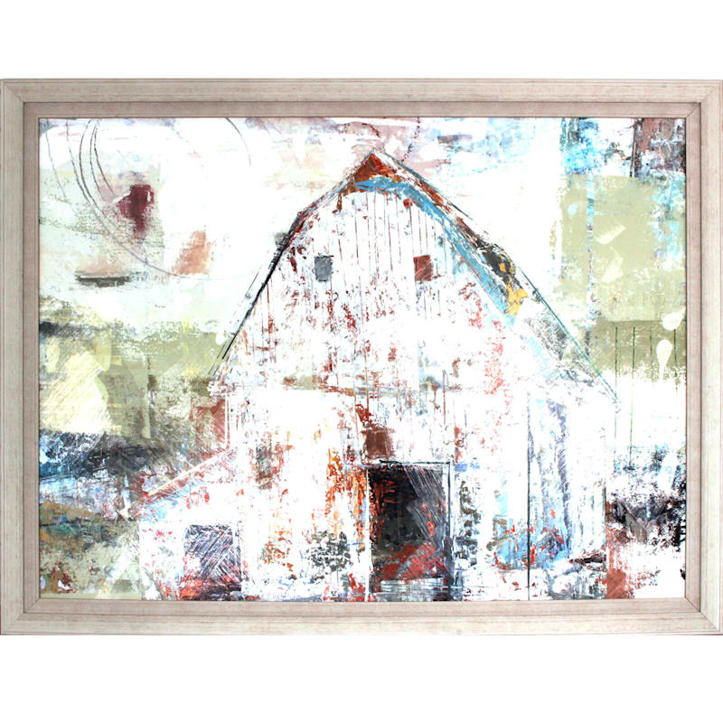 54X40 Rustic Farm Framed Art