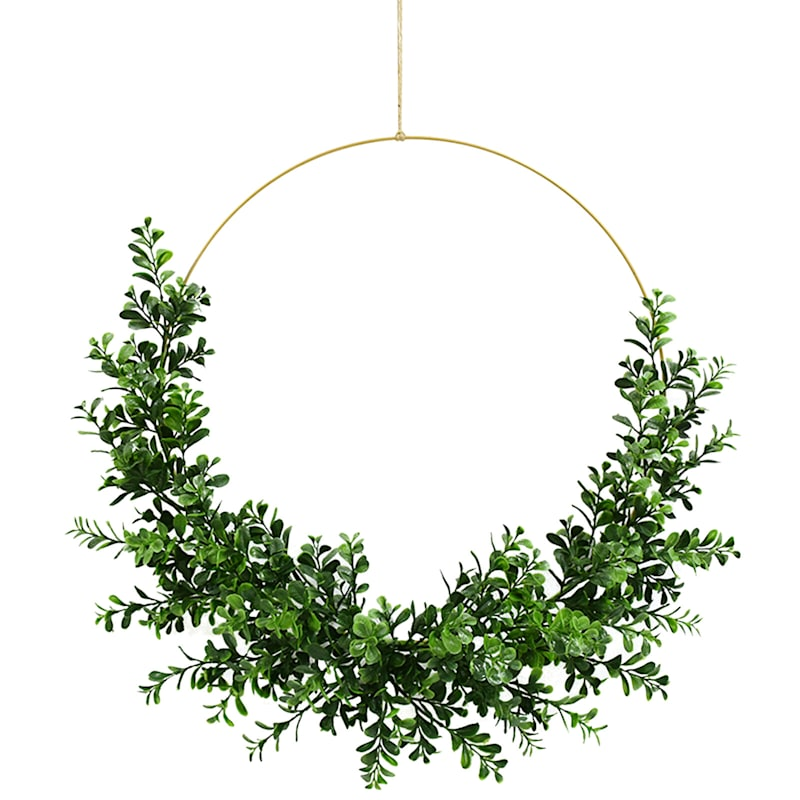 Buxus Leaves Wreath 24In