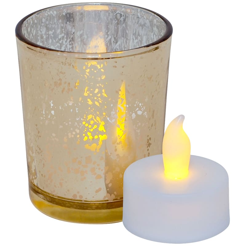 9 Pc LED Candle Yellow/Champagne