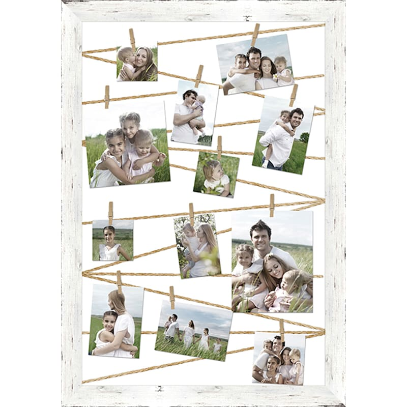 Distressed Wood White Collage Picture Frame