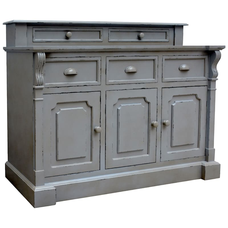 Joanna Gray 5-Drawer 3-Door Cabinet- 48 x 58-in