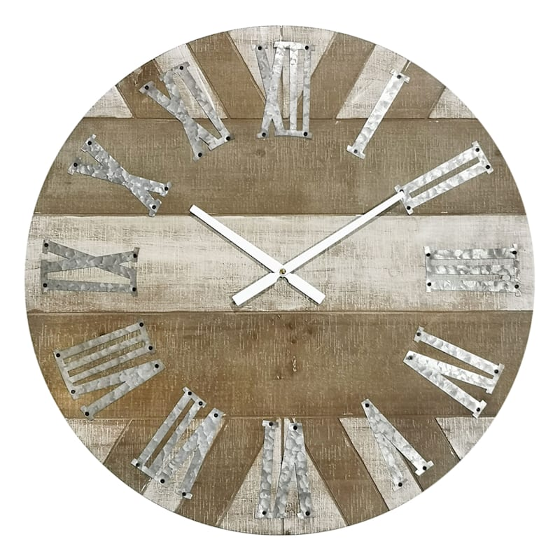 23in. Round Metal Wall Clock