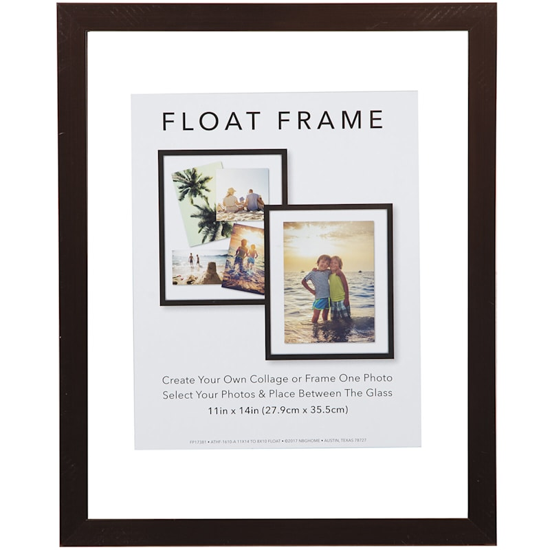 11X14 Bronze Linear Float Photo Wall Frame