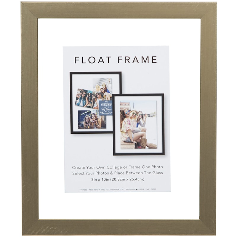 8X10 Gold Linear Profile Float Photo Wall Frame