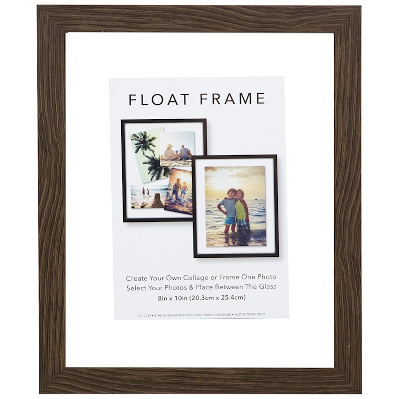 8X10 Grey Linear Profile Float Photo Wall Frame