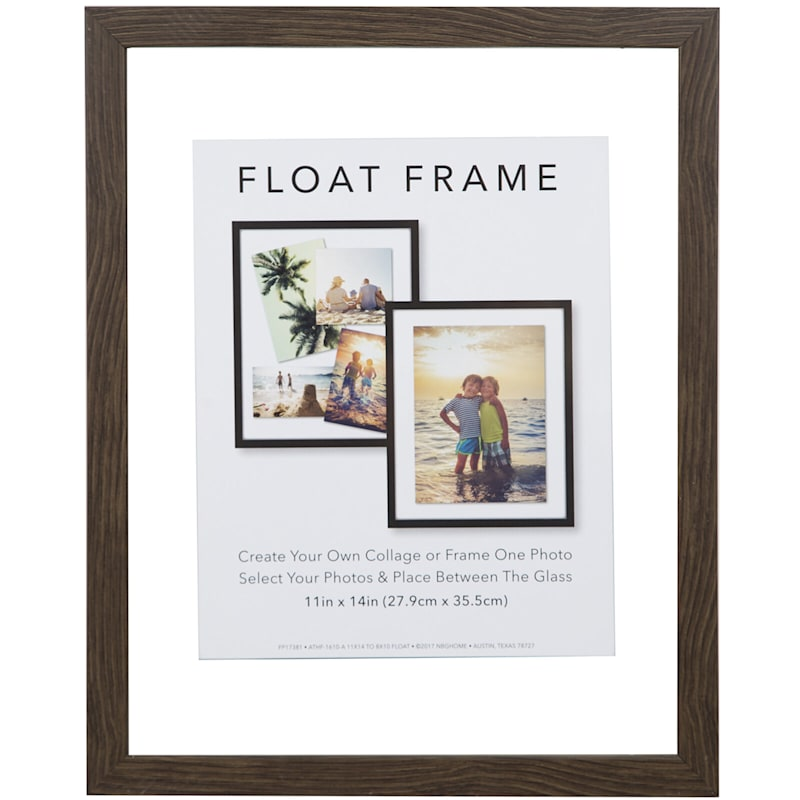 11X14 Grey Linear Profile Float Photo Wall Frame
