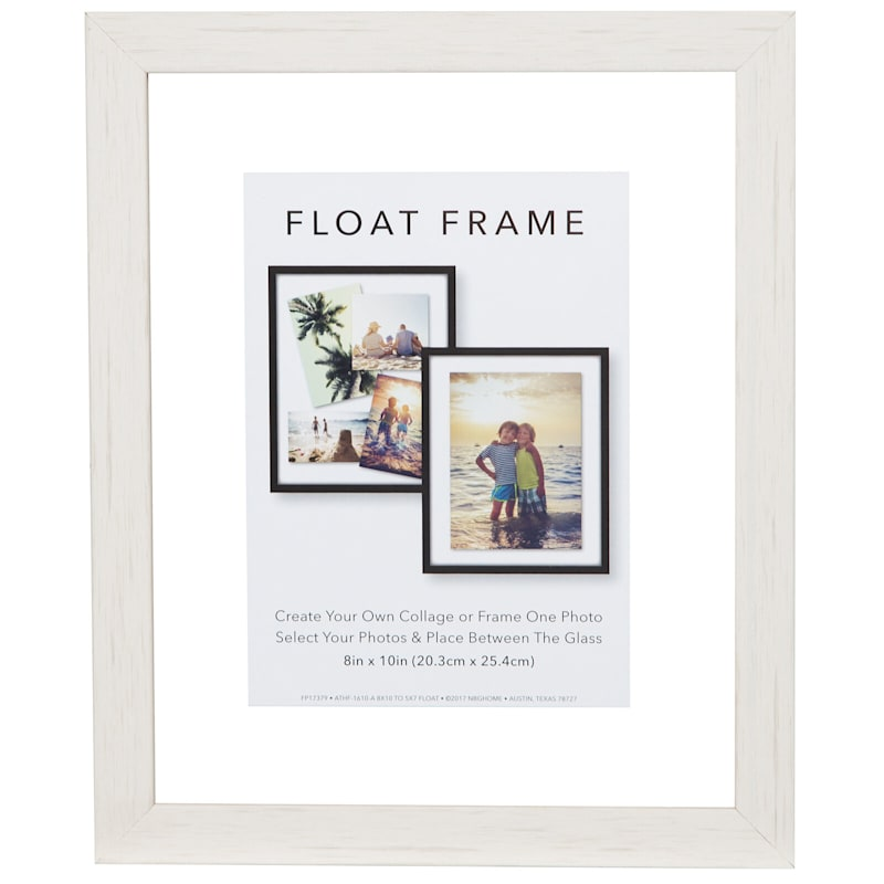 8X10 White Linear Profile Float Photo Wall Frame