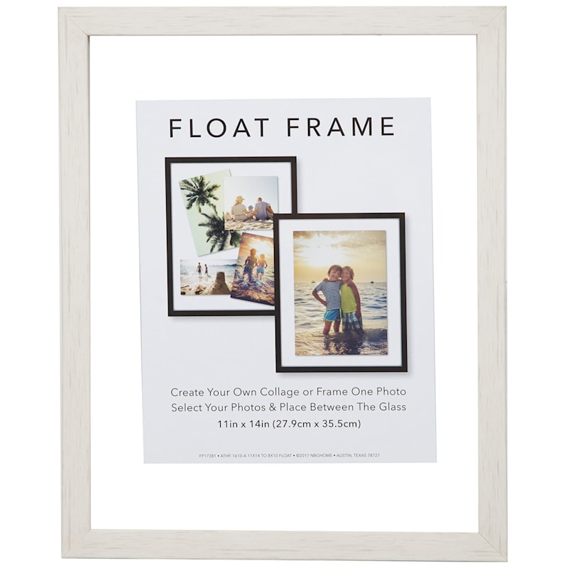11X14 White Linear Profile Float Photo Wall Frame