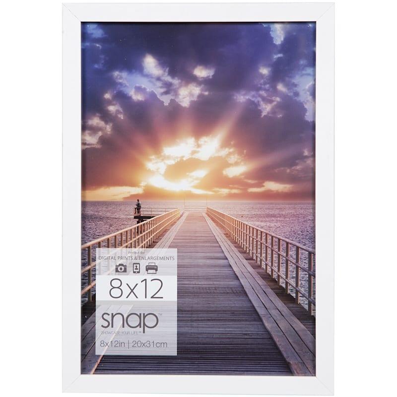 8X12 White Linear Profile Photo Wall Frame